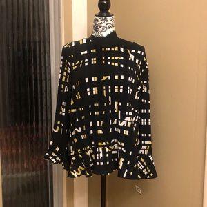 Alfani blouse Size LARGE .  95% polyester